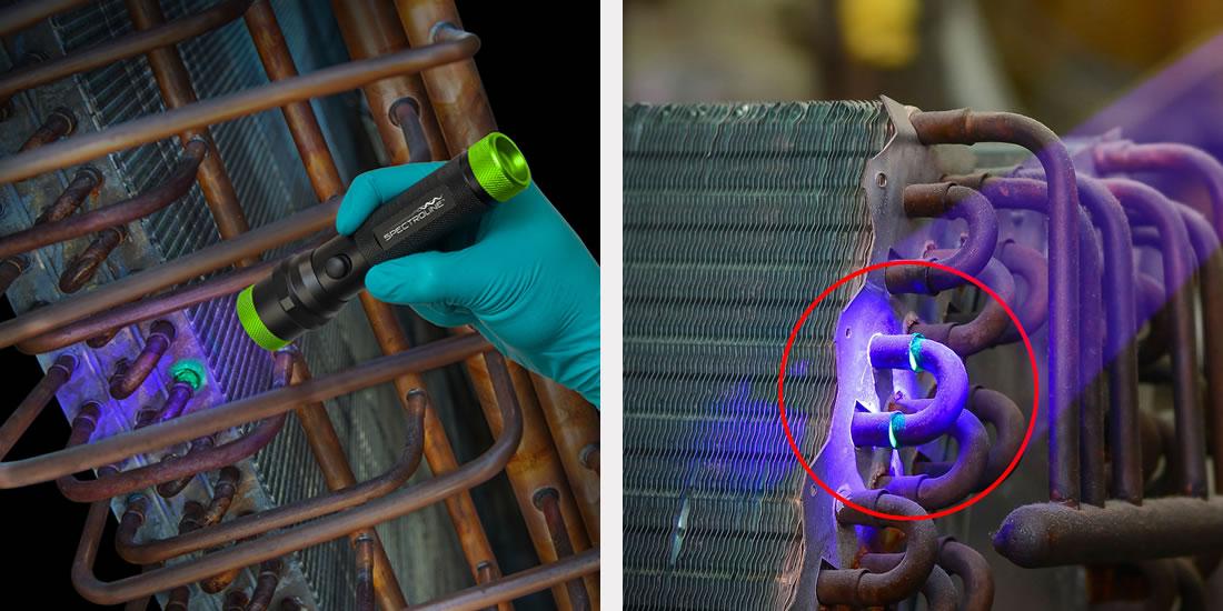Sistema com Contraste Fluorescente por luz UV Spectroline