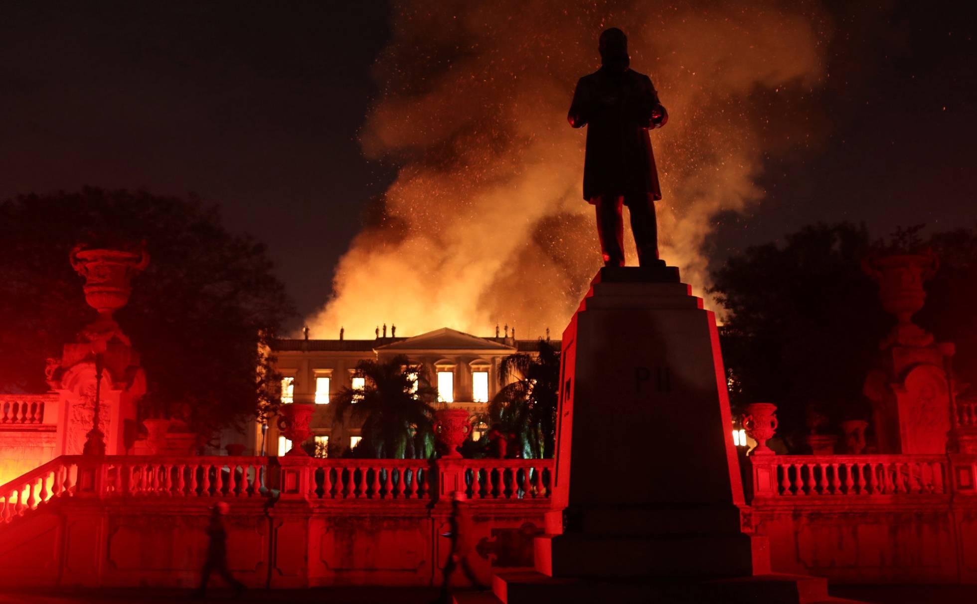 Incêndio no Museu Nacional. FONTE: BBC News